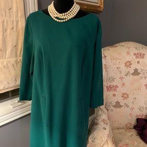 Beautiful wool green dress.